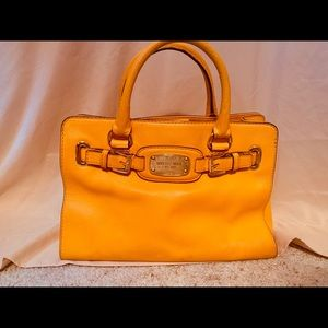 Michael Kors Genuine Mustard Leather Satchel